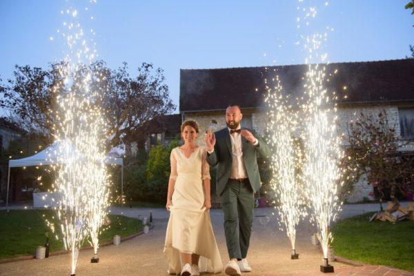 mariage feux artifice intérieur