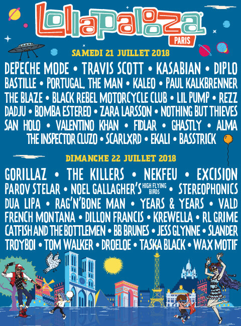 line up festival lollapalooza paris 2018