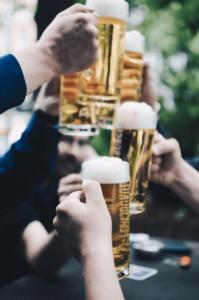 quelques bières durant soirée evg